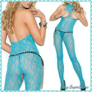 🆕🌅Totally Turquoise open cup & crotch Lingerie